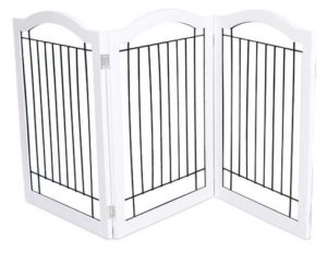 Wire Dog Gate with Arched Top